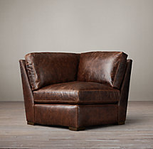Petite Maxwell Leather Corner Chair