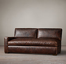 Petite Maxwell Leather Left-Arm Sofa