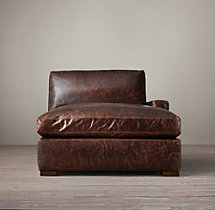 Petite Maxwell Leather Right-Arm Chaise