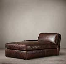 Petite Maxwell Leather Left-Arm Chaise