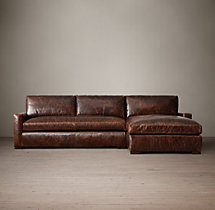 Preconfigured Petite Maxwell Leather Right-Arm Chaise Sectional