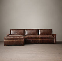 Petite Maxwell Leather Left-Arm Chaise Sectional