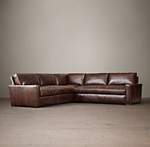 Petite Maxwell Leather Corner Sectional