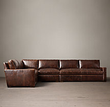 Preconfigured Petite Maxwell Leather L-Sectional