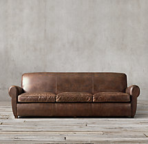 8' Parisian Leather Sofa