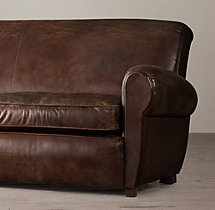 6' Parisian Leather Sofa