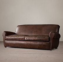 7' Parisian Leather Sofa