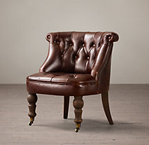 Sophie Tufted Leather Slipper Chair