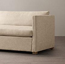 8' Belgian Classic Shelter Arm Upholstered Sofa