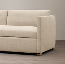 7' Belgian Classic Shelter Arm Upholstered Sofa
