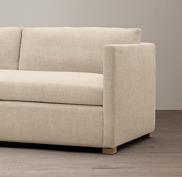 Belgian Classic Shelter Arm Upholstered Sofa