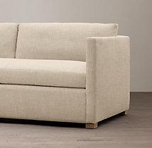 6' Belgian Classic Shelter Arm Upholstered Sofa