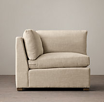 Belgian Classic Shelter Arm Upholstered Corner Chair