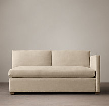 Belgian Classic Shelter Arm Upholstered Right-Arm Sofa