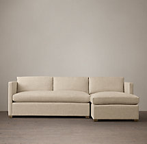 Preconfigured Belgian Classic Shelter Arm Upholstered Right-Arm Chaise Sectional