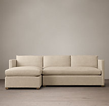 Preconfigured Belgian Classic Shelter Arm Upholstered Left-Arm Chaise Sectional
