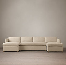 Preconfigured Belgian Classic Shelter Arm Upholstered U-Chaise Sectional