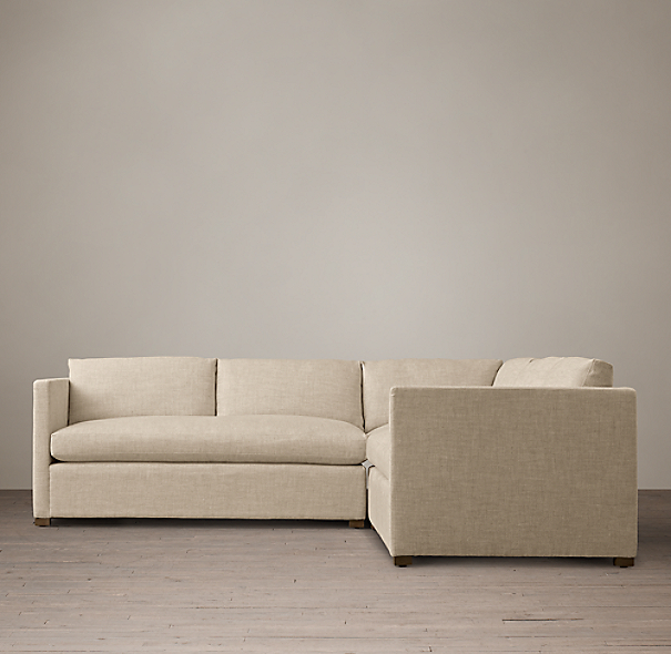 Belgian Classic Shelter Arm Upholstered Customizable Sectional