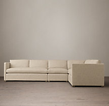 Belgian Classic Shelter Arm Upholstered L-Sectional