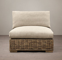Antilles Rattan Armless Chair Cushions
