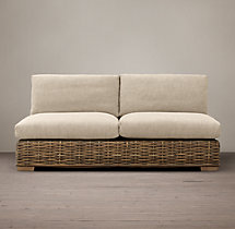 Antilles Rattan Armless Sofa Cushions