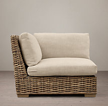 Antilles Rattan Corner Chair Cushions