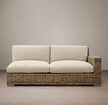 Antilles Rattan Right-Arm Sofa Cushions