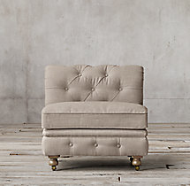The Petite Kensington Upholstered Armless Chair