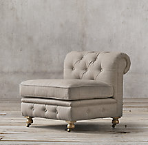 Petite Kensington Upholstered Armless Chair