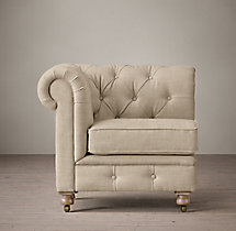 The Petite Kensington Upholstered Corner Chair