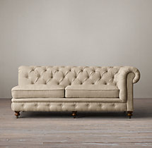 The Petite Kensington Upholstered Right-Arm Sofa