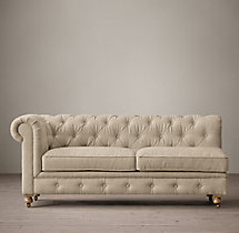 The Petite Kensington Upholstered Left-Arm Sofa