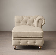 Petite Kensington Upholstered Right-Arm Chaise