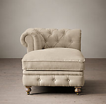 Petite Kensington Upholstered Left-Arm Chaise