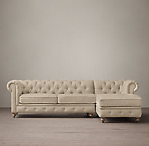 The Petite Kensington Upholstered Right-Arm Chaise Sectional