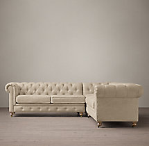 Preconfigured Petite Kensington Upholstered Corner Sectional