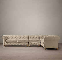 Preconfigured Petite Kensington Upholstered L-Sectional