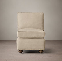 Petite Lancaster Upholstered Armless Chair