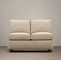 Petite Classic Lancaster Upholstered Armless Sofa