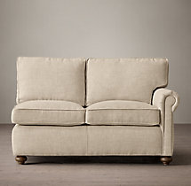 Petite Classic Lancaster Upholstered Right-Arm Sofa