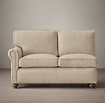 Petite Classic Lancaster Upholstered Left-Arm Sofa
