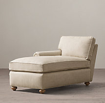 Petite Classic Lancaster Upholstered Left-Arm Chaise