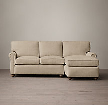 Preconfigured Petite Classic Lancaster Upholstered Right-Arm Chaise Sectional