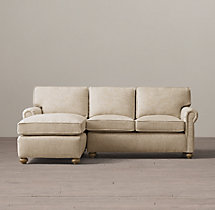 Preconfigured Petite Classic Lancaster Upholstered Left-Arm Chaise Sectional