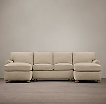 Preconfigured Petite Lancaster Upholstered U-Chaise Sectional