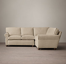 Preconfigured Petite Lancaster Upholstered Corner Sectional