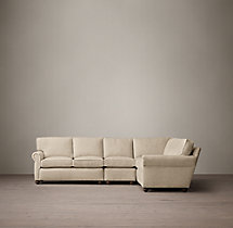 Preconfigured Petite Lancaster Upholstered L-Sectional