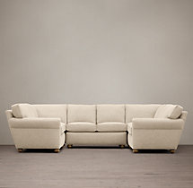 Preconfigured Petite Lancaster Upholstered U-Sofa Sectional