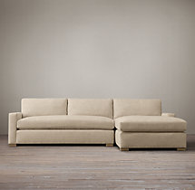 Petite Maxwell Upholstered Right-Arm Chaise Sectional