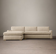 Preconfigured Petite Maxwell Upholstered Left-Arm Chaise Sectional